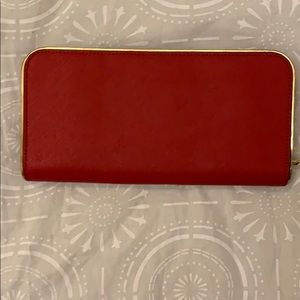 Michael Kors Bags - Michael Kors Red and Gold wallet